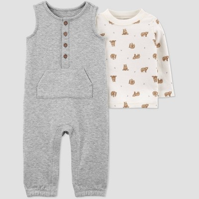 Baby Boys' Quilted Top & Bottom Set - Just One You® made by carter's Gray 3M