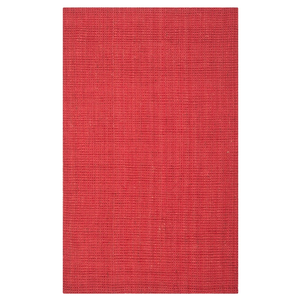 Red Solid Woven Area Rug 4'x6' - Safavieh