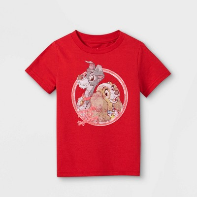 Toddler Disney Lady & The Tramp Short Sleeve Graphic T-Shirt - Red - Disney Store