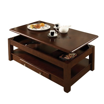 Nelson Lift Top Cocktail Table Cherry - Steve Silver