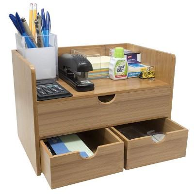 Sorbus 3-Tier Bamboo Shelf Makeup Organizer
