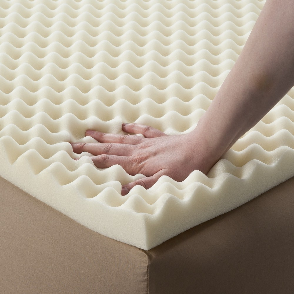 "Image of ""Enhance Highloft 2"""" Memory Foam Topper White Full - Future Foam"""