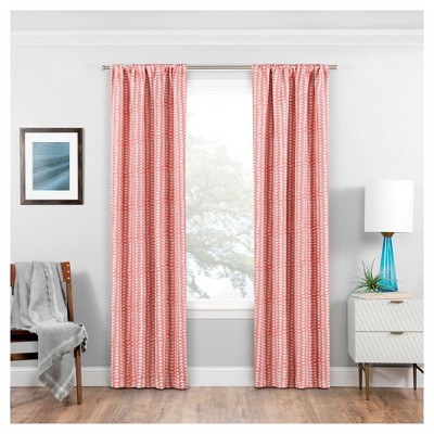 "63""x37"" Naya Thermaweave Blackout Curtain Panel Coral - Eclipse"