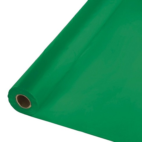 Emerald Green Disposable Tablecloth - image 1 of 1