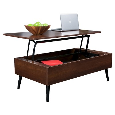 Christopher Knight Home Elliot Wood Lift-Top Storage Coffee Table - Mahogany