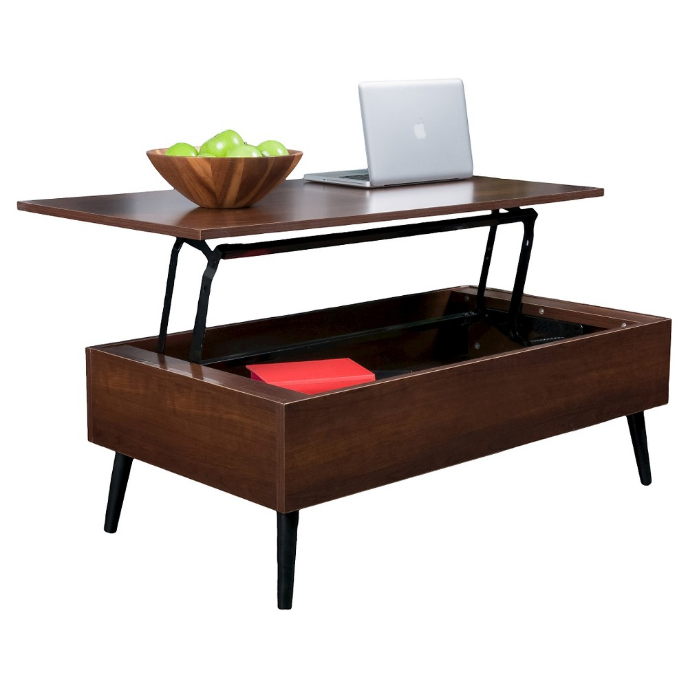 Christopher Knight Home Elliot Wood Lift-Top Storage Coffee Table - Mahogany (Brown)
