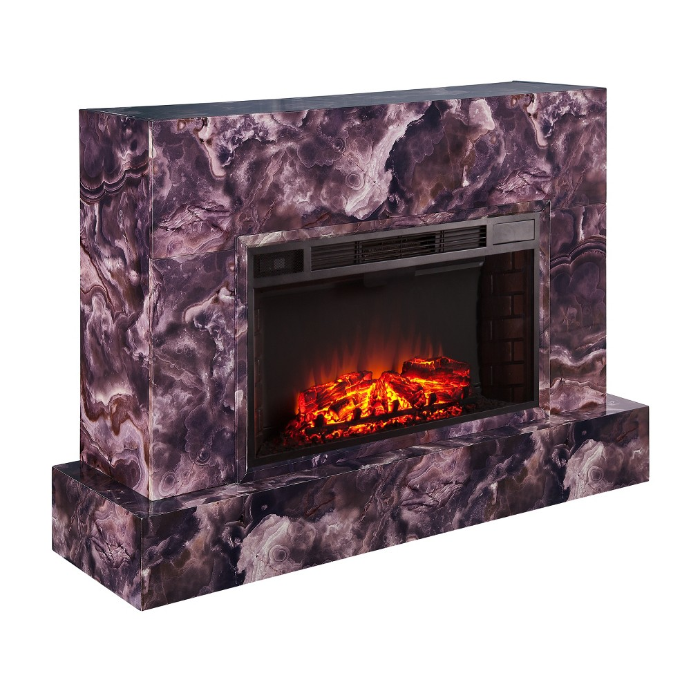 Talloston Electric Fireplace TV Stand Dark Purple - Aiden Lane