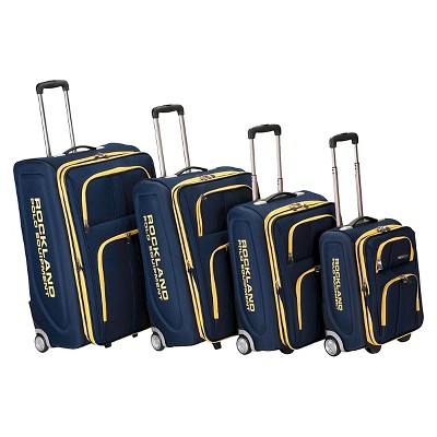 Rockland Varsity Polo Equipment 4pc Luggage Set - Navy