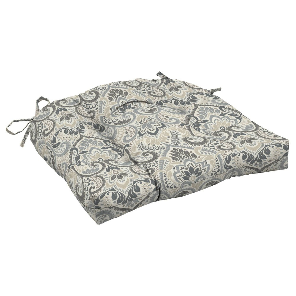 Arden Selections 18 34 X 20 34 Aurora Damask Outdoor Wicker Chair Cushion Neutral