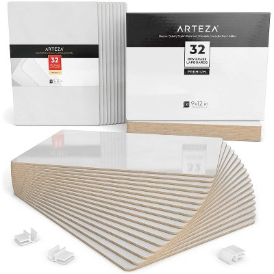"""Arteza White Dry Erase Lapboards with Pen Holder, Pack of 32 (12"""" x 11"""")"""