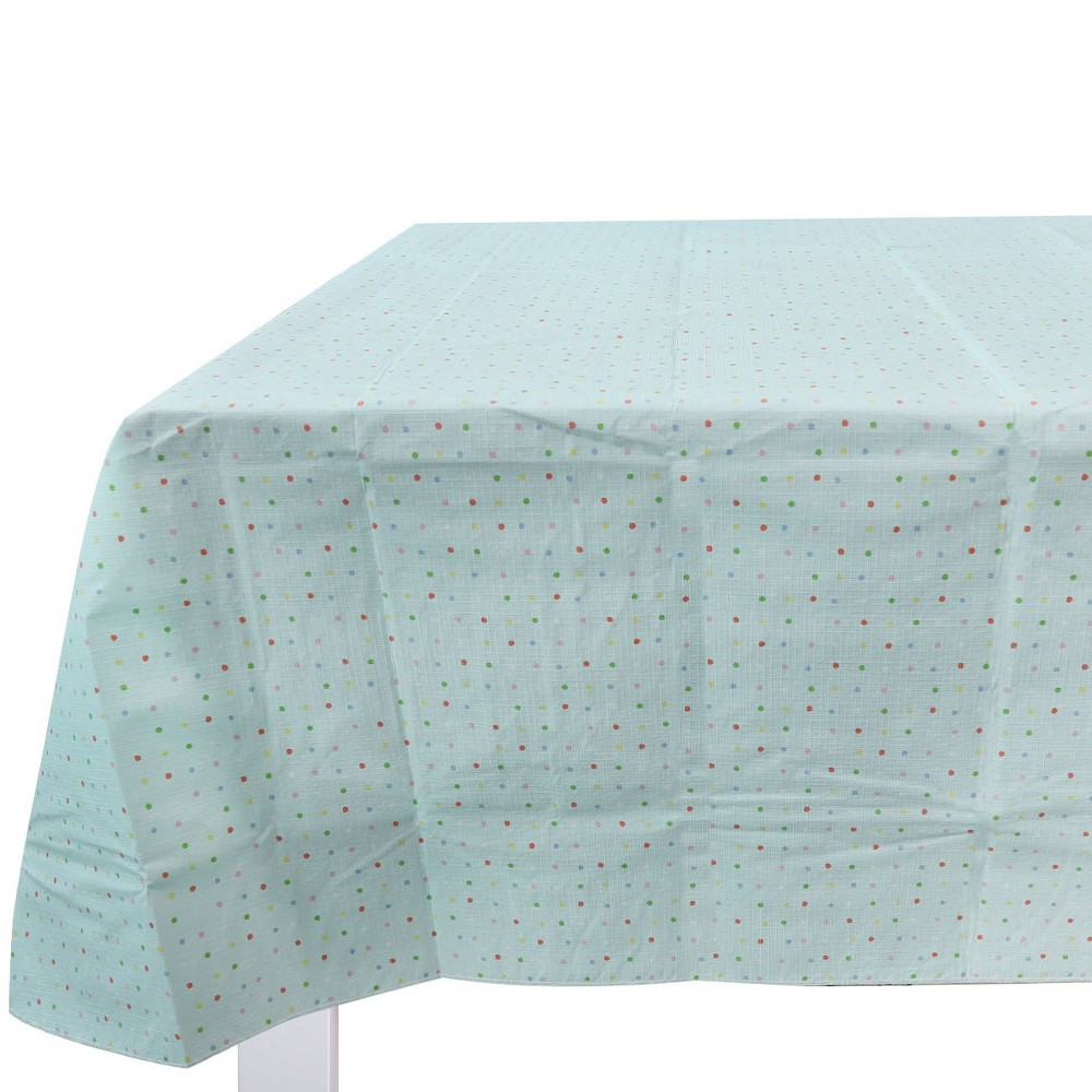 Easter Polka Dot Tablecloth - Spritz, Blue