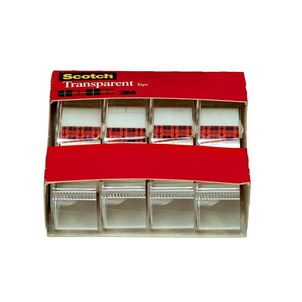 Scotch 4pk Transparent Tape 3 4 34 X 275 34
