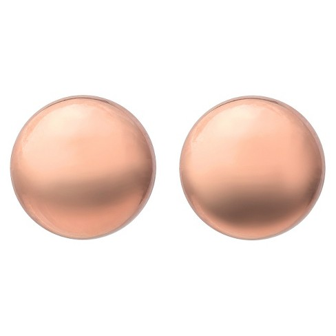Women's Tressa Collection Sterling Silver Ball Earrings - Rose Gold (12mm) - image 1 of 3