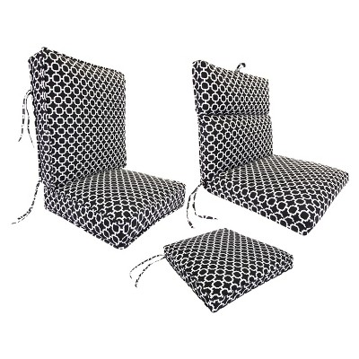 Outdoor Cushion Collection Black White Geometric