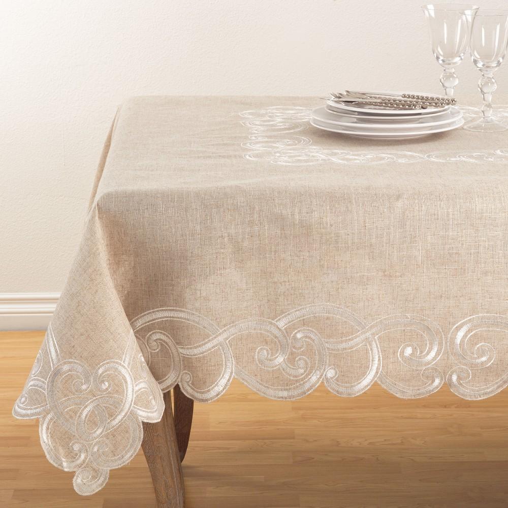Tablecloth Warm Beige Saro Lifestyle, Brown