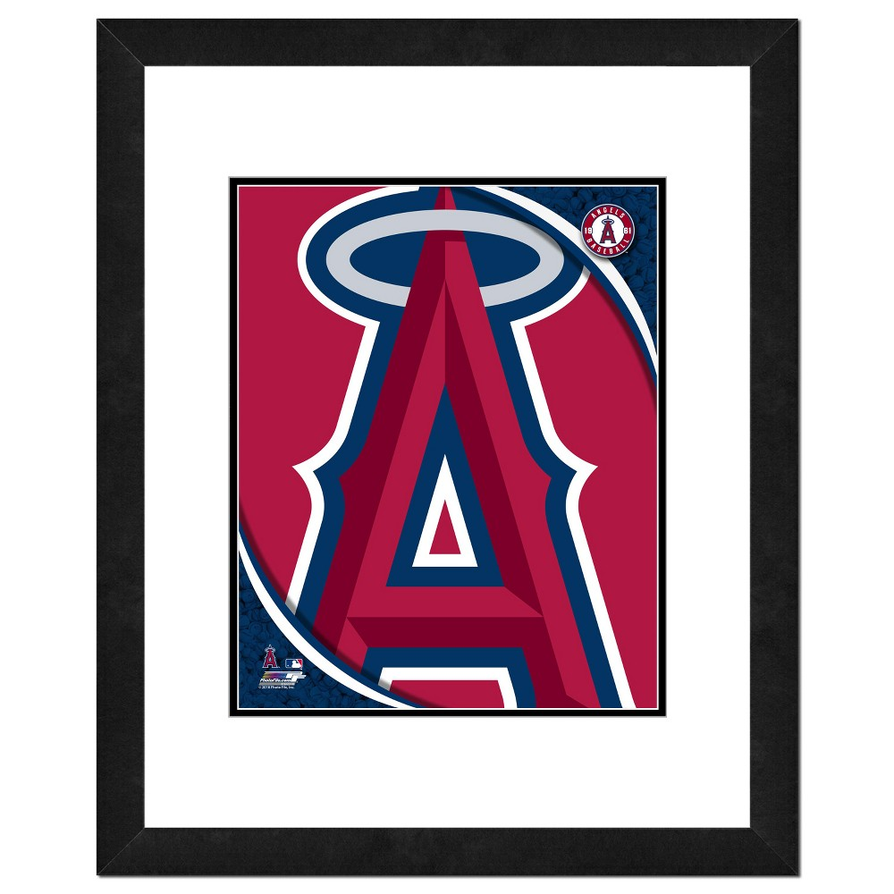 Los Angeles Angels Photo File 18x22 inch Framed Wall Art - Double Matted
