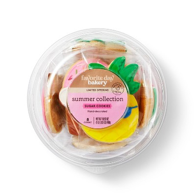 Summer Assorted Sugar Cookies - 8ct/16.9oz - Favorite Day™