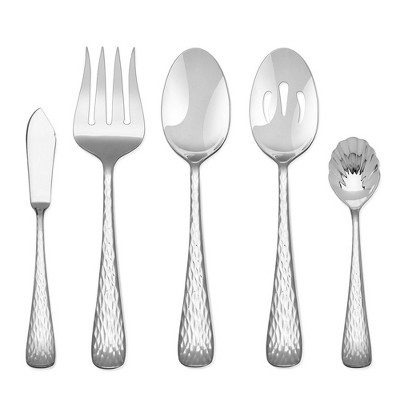 Hampton Forge 45pc Stainless Steel Melody Hammered Silverware Set