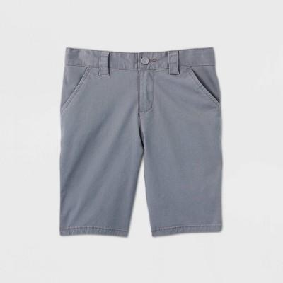 Girls' Flat Front Stretch Uniform Shorts - Cat & Jack™ Gray