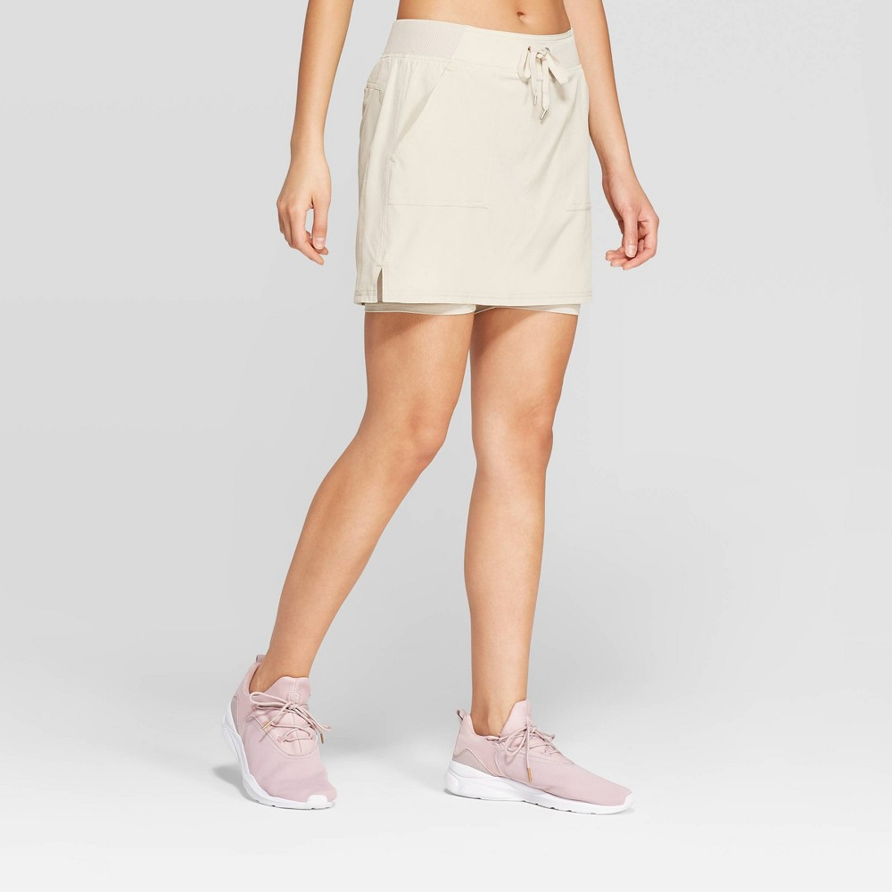 "Image of ""Women's Mid-Rise Woven Skort 5"""" - C9 Champion Beige XXL, Women's"""