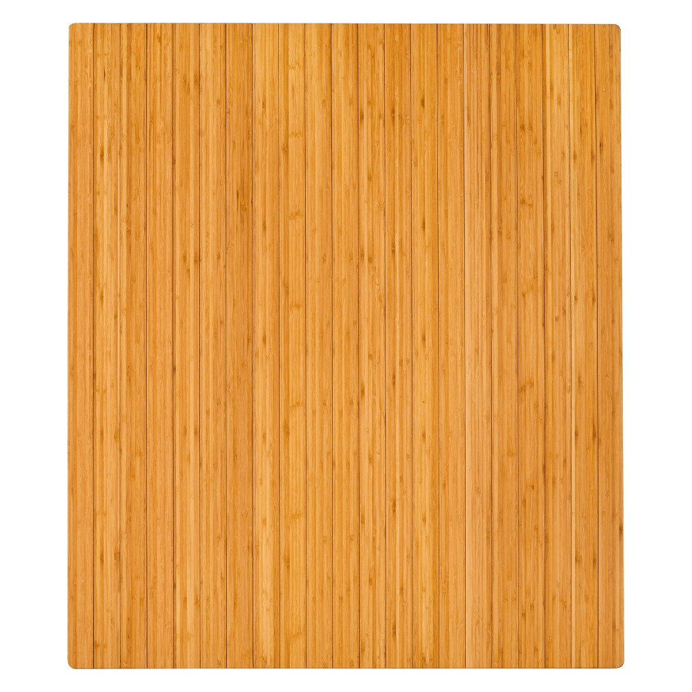 "Image of ""3'5""""X4' Bamboo Roll-Up Chairmat With No Lip Neutral - Anji Mountain"""