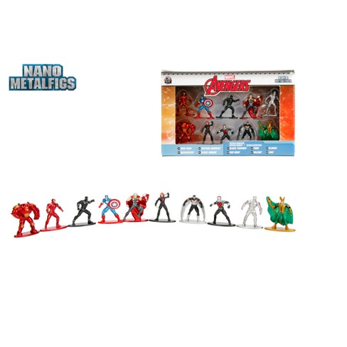 NANO METALFIGS Marvel 10pk Figures - image 1 of 5