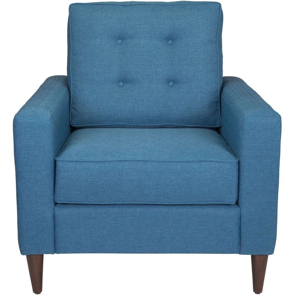 Mid Century Arm Chair Blue - ZM Home