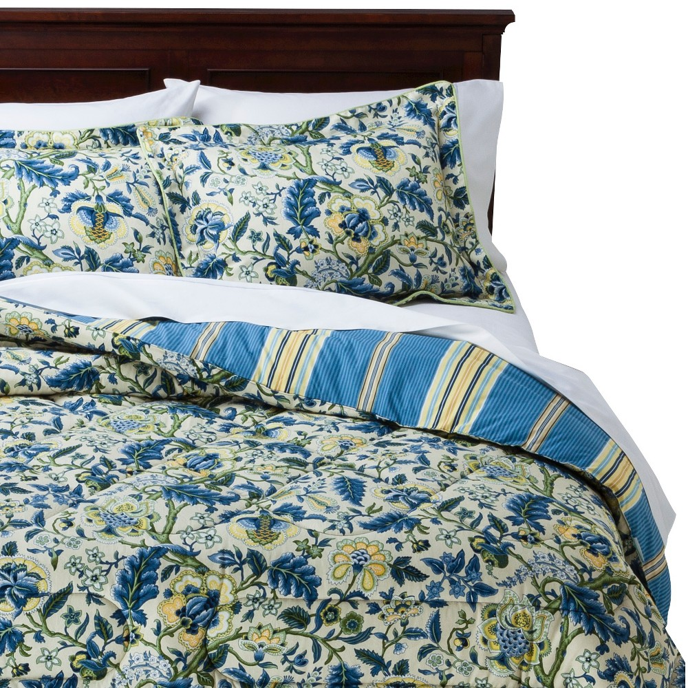 Waverly Imperial Dress Comforter Set - Porcelain (King), Multi-Colored