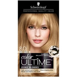 Schwarzkopf Ultime Iconic Blondes Permanent Hair Color - 8.0 Medium Blond