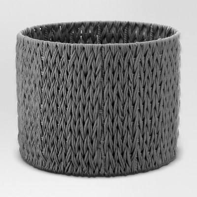 Round Woven Basket Large Gray - Project 62™