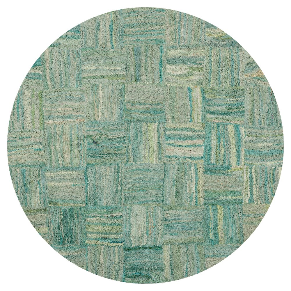 Reed Round Area Rug Green6'x6' - Safavieh, Green Multicolored