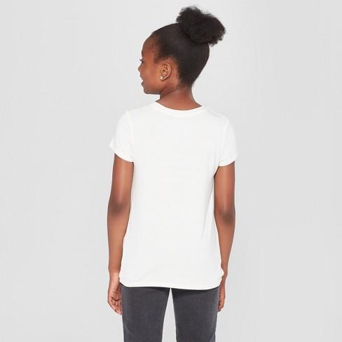 8c15c50c10a11 Girls  Tie Front Knit T-Shirt - Art Class™ White   Target