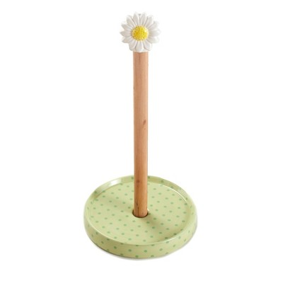 Lakeside Daisy Topper Paper Towel Holder for Kitchen Countertops and Bathrooms
