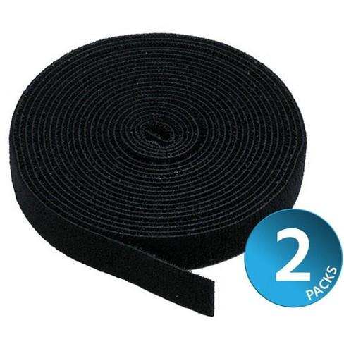 Monoprice 2-Pack Hook & Loop Fastening Tape 5 yard/roll, 0.75in, Black - image 1 of 2