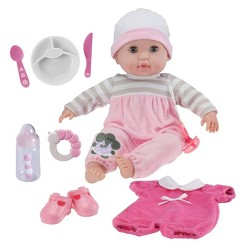 """JC Toys Berenguer Boutique 15"""" Baby Doll 10pc Set - Pink"""