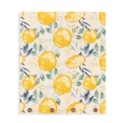 Cotton Terry Infinity Loop Lemon Print Kitchen Towel - DEMDACO
