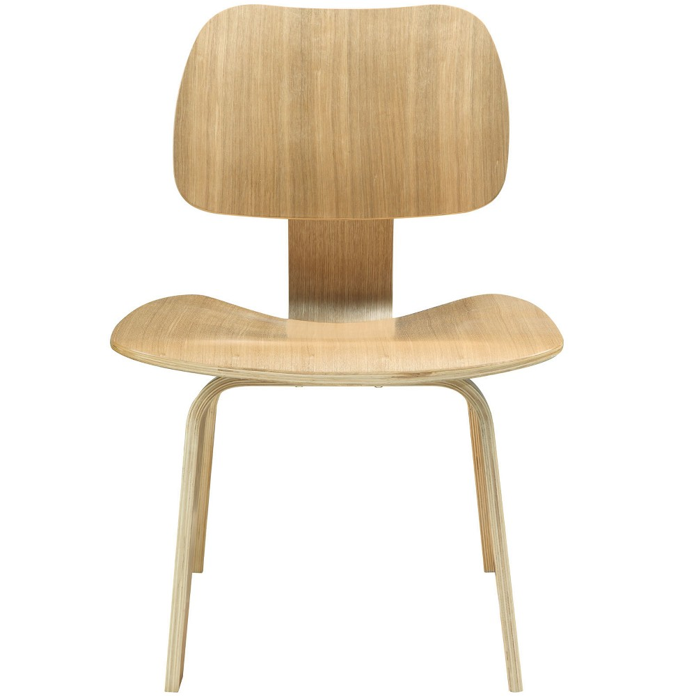 Fathom Dining Wood Side Chair Natural - Modway