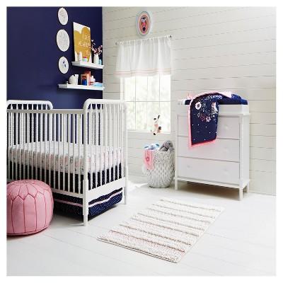 Navy Pink Nursery Room Cloud Island