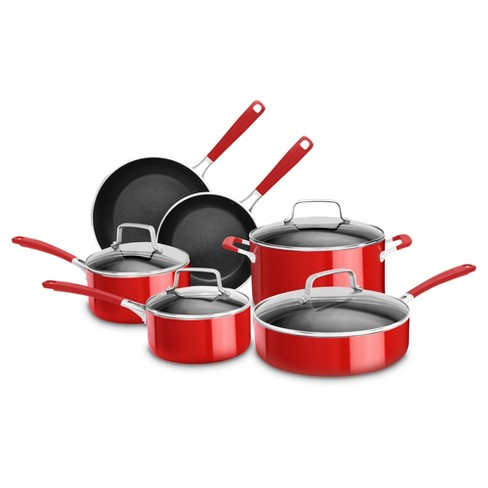KitchenAid   10 Piece Aluminum Nonstick Cookware Set - KC2AS10 - image 1 of 1