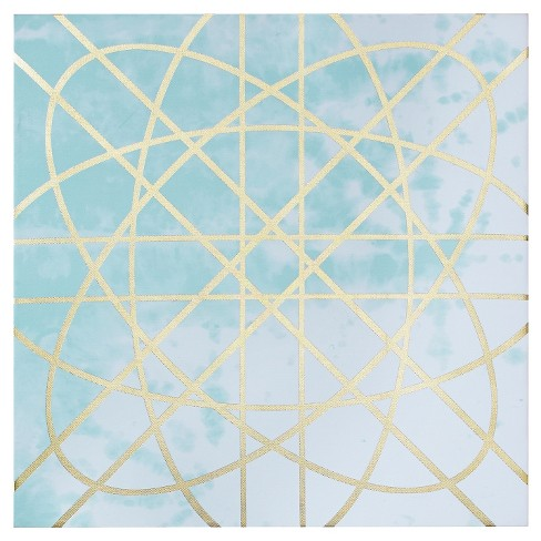 Arctic Geometric Printed Canvas with Gold Foil Embellishment 2 Piece Set - image 1 of 7