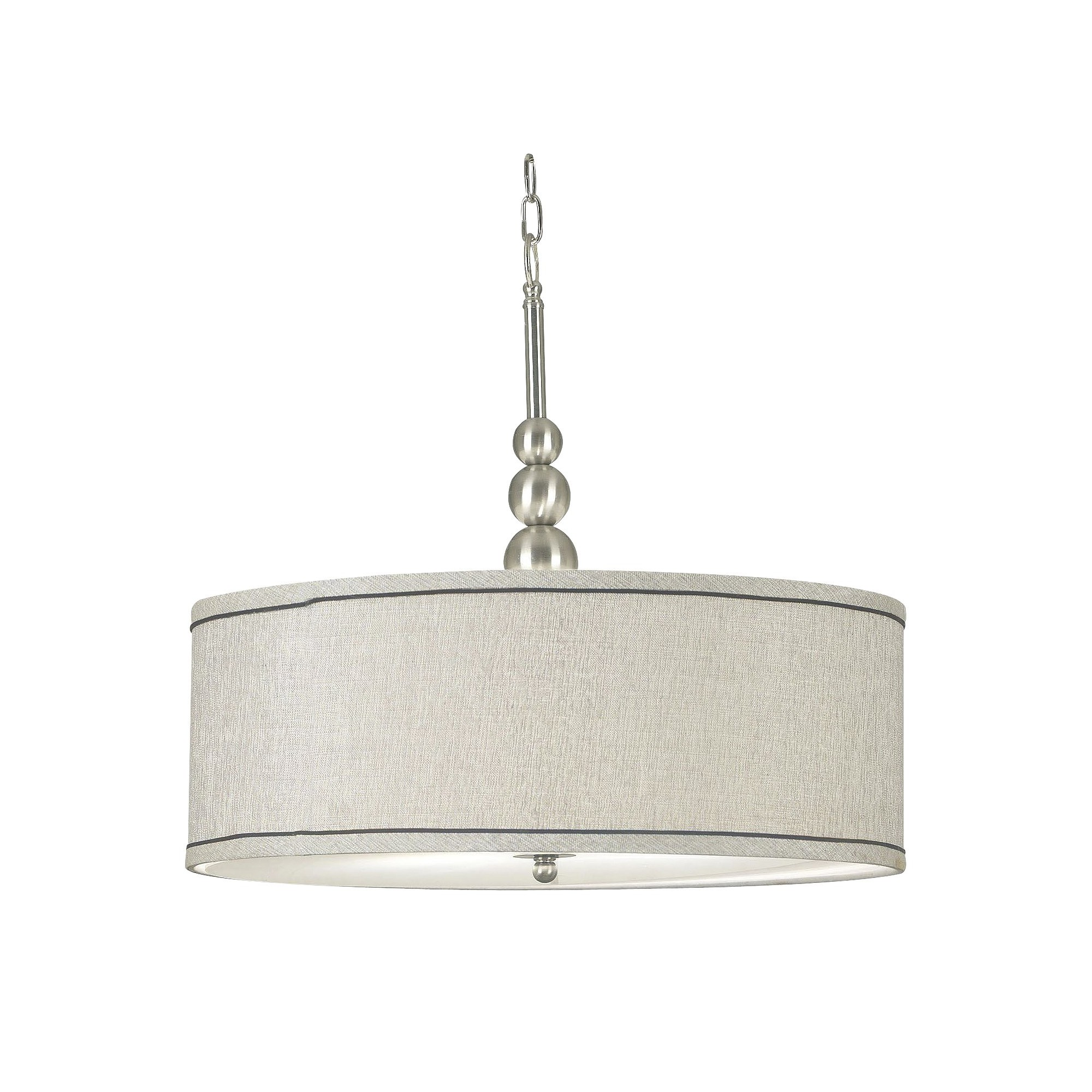Kenroy Home Brushed Steel Finish Margot 3 Light Pendant