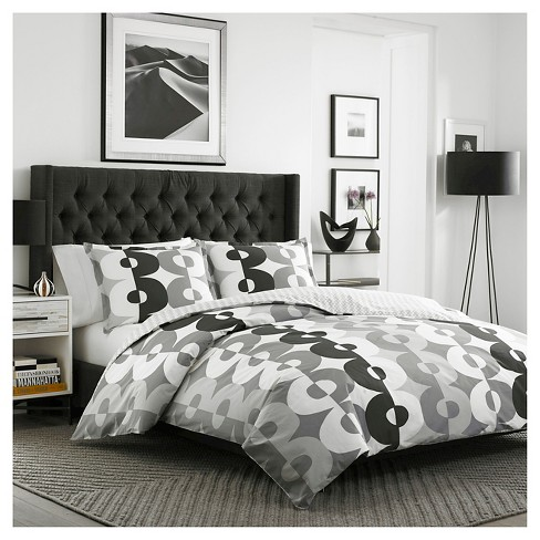 Kelso Duvet Cover Set Twin Gray - City Scene® - image 1 of 3