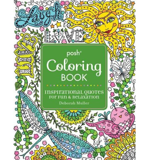 Inspirational Quotes Adult Coloring Book: For Fun & Relaxation - image 1 of 1