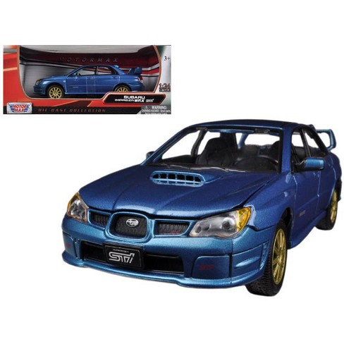 Subaru Car Models >> Subaru Impreza Wrx Sti Blue 1 24 Diecast Car Model By Motormax