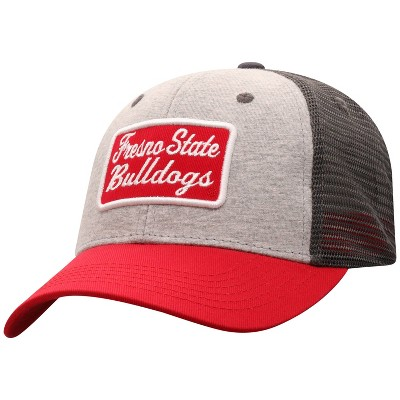 NCAA Fresno State Bulldogs Men's Gray Cotton with Mesh Snapback Hat