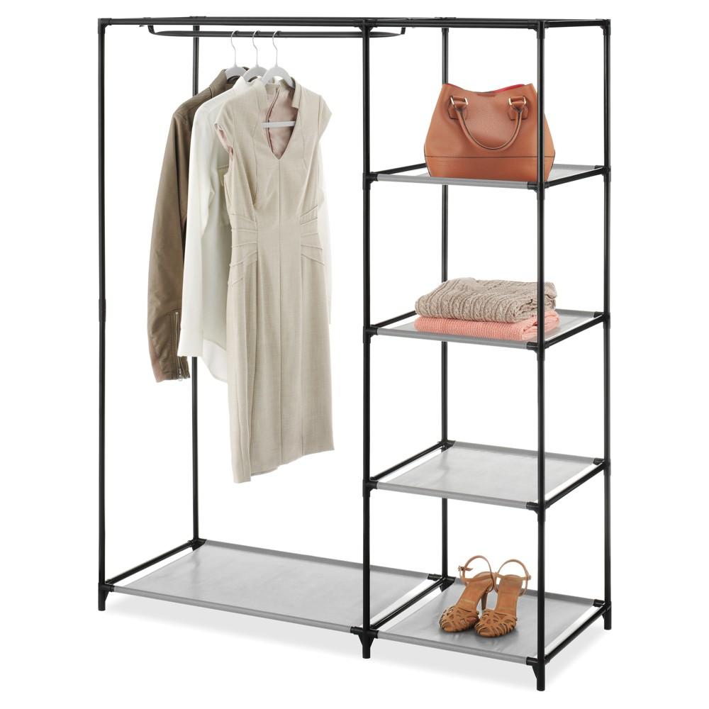Whitmor Freestanding Closet Wardrobe, Silver