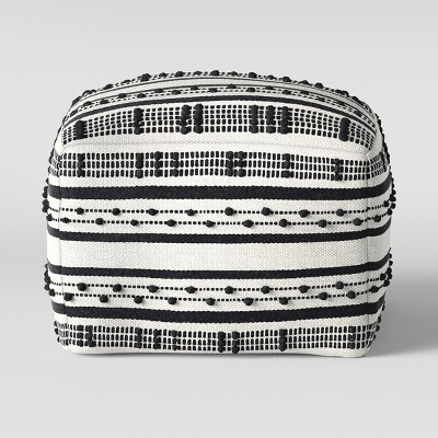 Lory Pouf Black Textured - Opalhouse™