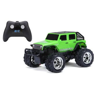 New Bright Remote Control RC FF Chargers Jeep Wrangler - Green - 1:18 Scale
