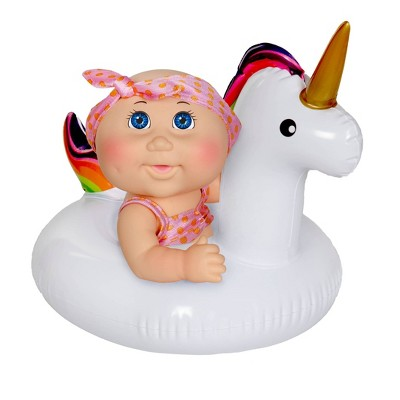 "Cabbage Patch Kids 9"" Deluxe Splash N' Float - Blue Eye Girl Unicorn"