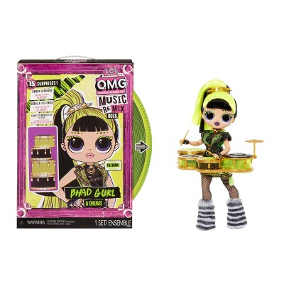 L.O.L. Surprise! OMG Remix Rock Bhad Gurl and Drums Fashion Doll